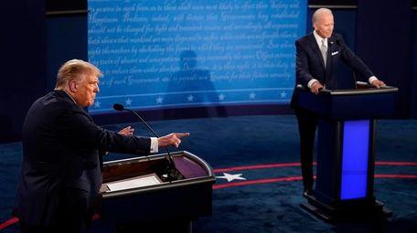 Republican President Donald Trump and Democratic nominee Joe