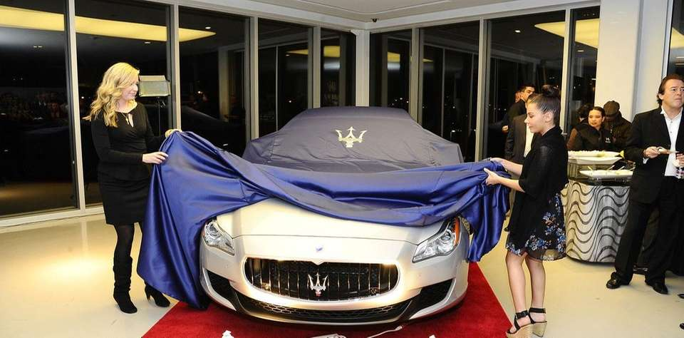 The 2014 Maserati Quattroporte is revealed at Ferrari-Maserati
