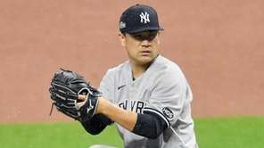 Starting pitcher Masahiro Tanaka #19 of the New