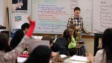 Social studies teacher Maggie Favretti, of Peekskill, teaches