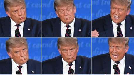 President Donald Trump during the first debate Tuesday