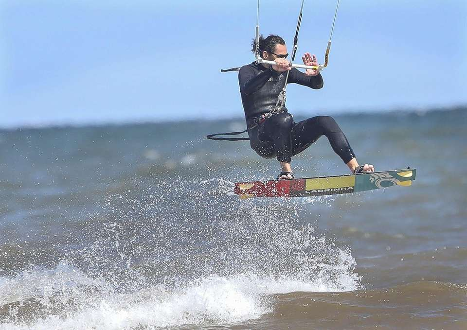 Blustery winds created the ideal conditions for kite