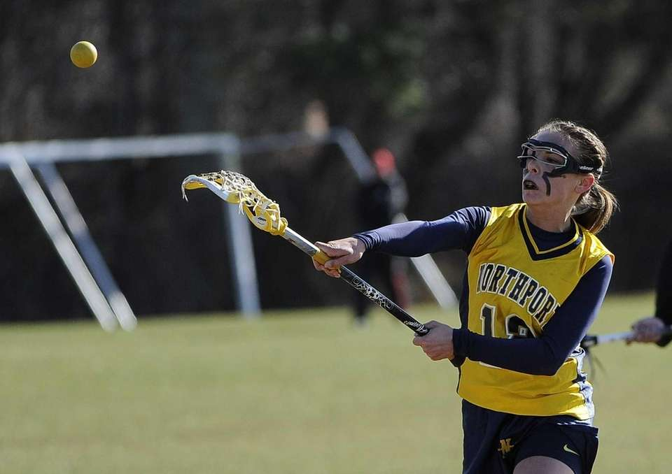 Northport midfielder Allie Pavinelli passes the ball against