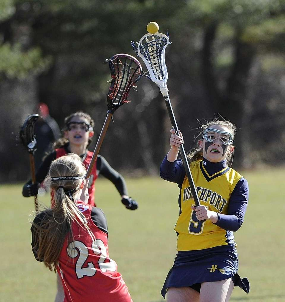Northport attacker Allie Breitfeller passes the ball past