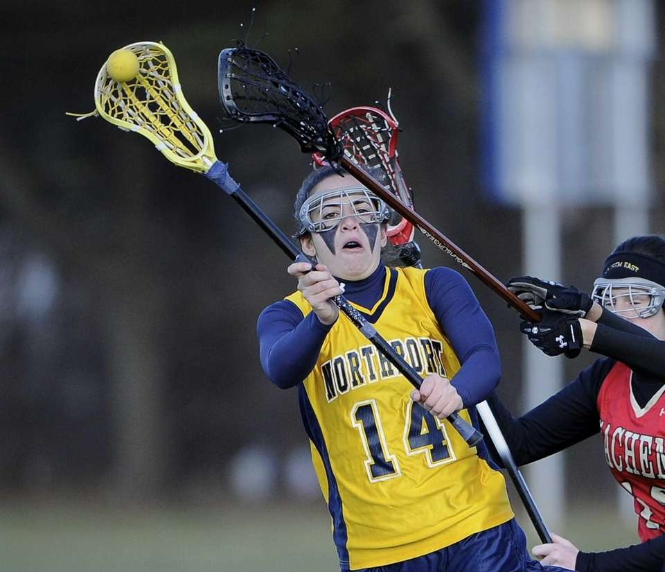 Northport defender Vinchenza Patrone passes the ball against