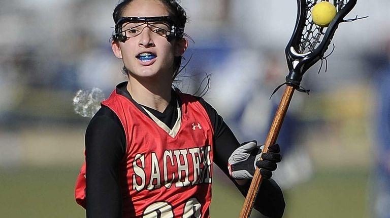 Sachem East's Kaitlyn Shanahan runs the ball against