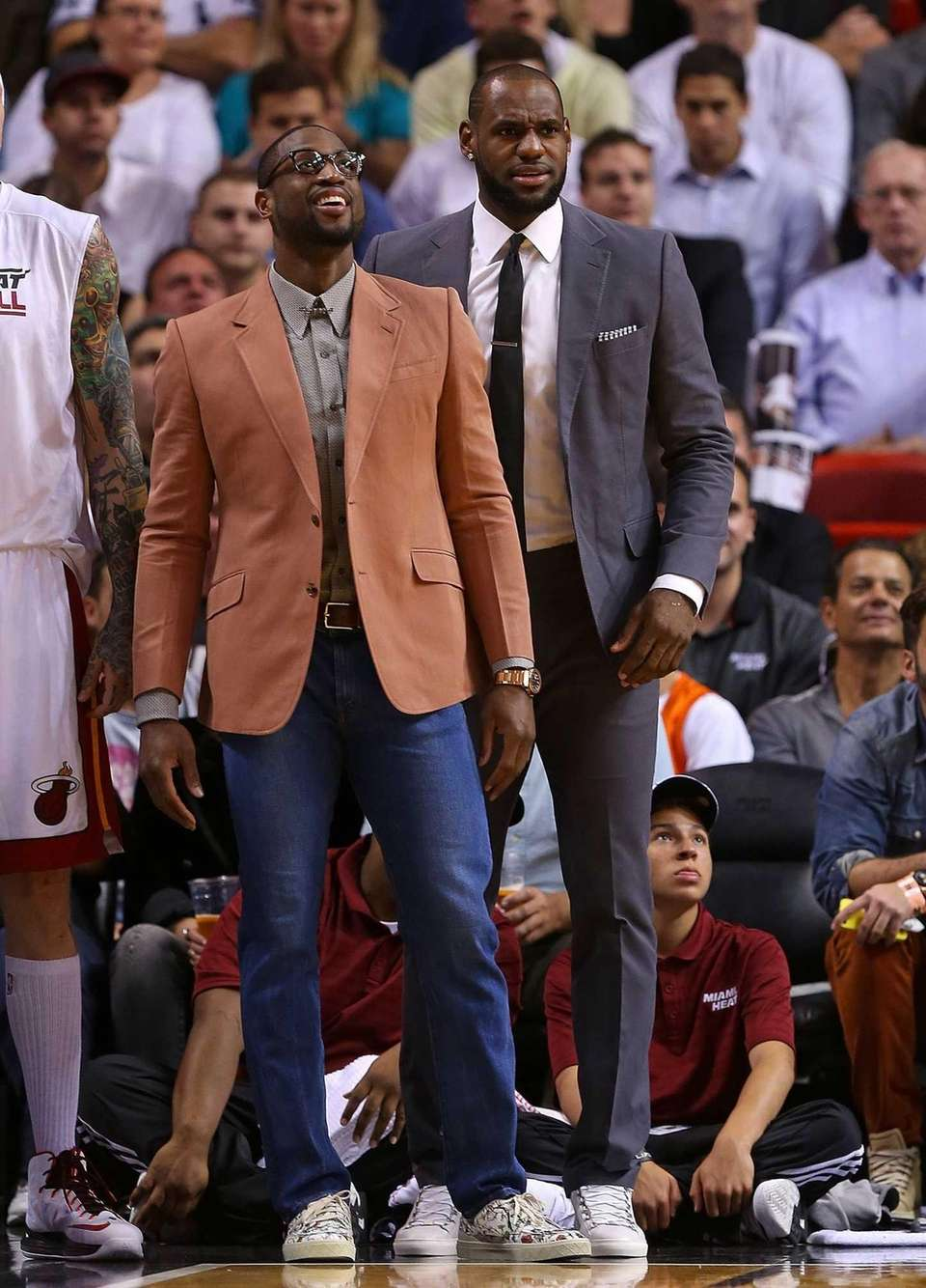 LeBron James and Dwyane Wade of the Miami