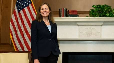 Judge Amy Coney Barrett is President Donald Trump's