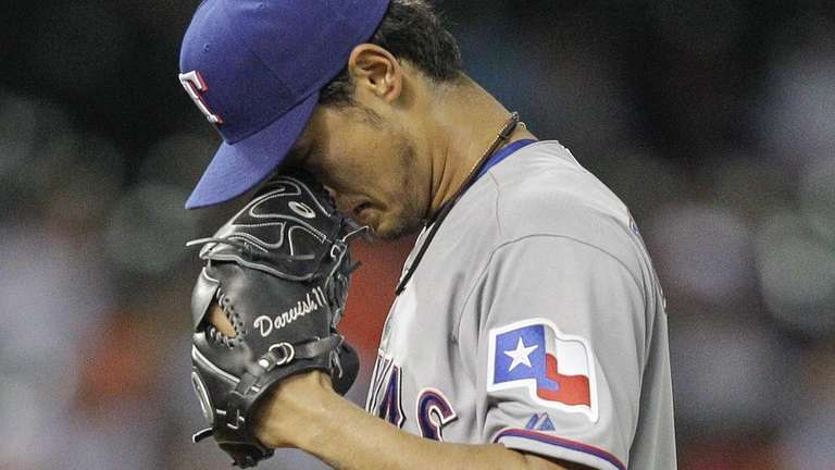 Yu Darvish of the Texas Rangers takes a