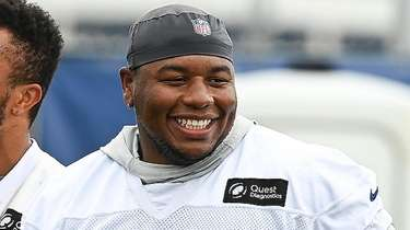 Giants defensive tackle Dexter Lawrence during training camp