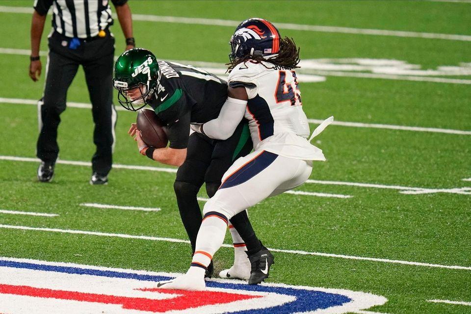 Denver Broncos inside linebacker A.J. Johnson sacks New