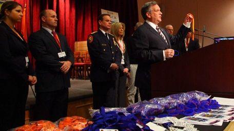 Nassau County Executive Edward Mangano joined by representatives