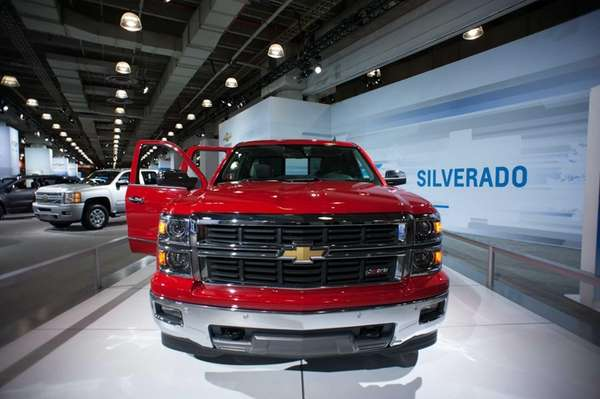 The 2014 Silverado 1500, on display at the