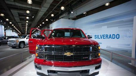 The 2014 Silverado 1500, on display at the