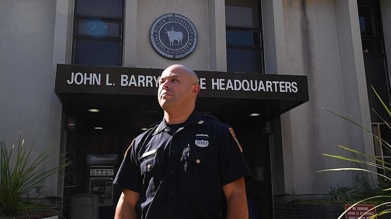 Suffolk police officer Christian Vidal returned to work,