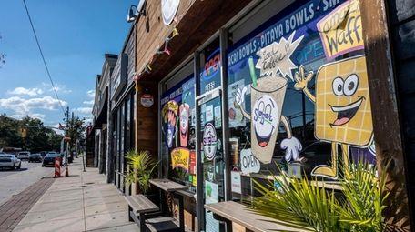 A business strip along Merrick Road in Massapequa,