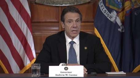 Gov. Andrew M. Cuomo, seen here in March,