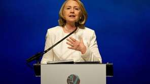 Former Secretary of State Hillary Rodham Clinton addresses