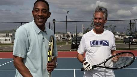 Anthony Marsh, left, who played tennis in college,