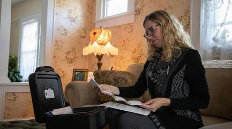 Erin McCauley, 37, who stores her end-of-life paperwork
