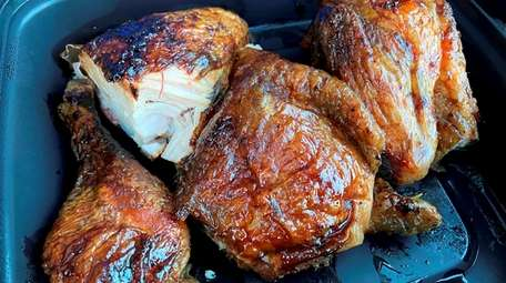 Smoked chicken from Uncle Steve's Tavern, a new