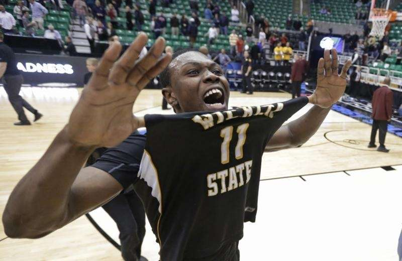 Wichita State's Cleanthony Early celebrates after his team