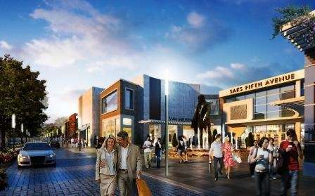 A rendering shows the pedestrian walkway and new
