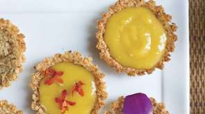 Passionfruit orchid tartlets.