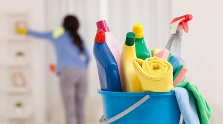 Keep cleaning supplies on hand
