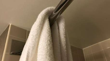 Hang towels to dry.