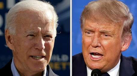 Democratic presidential candidate Joe Biden and President Donald