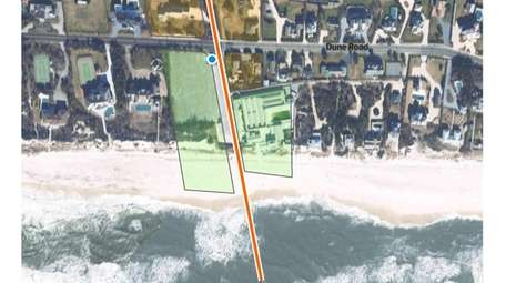 Southampton Town officials are considering burying a pipe