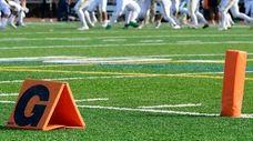 A high school football game on Long Island