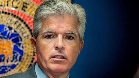 Suffolk County Executive Steve Bellone in Brentwood Sept.