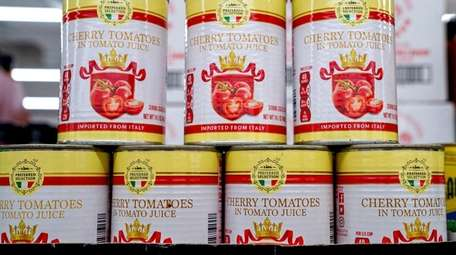 Canned cherry tomatoes imported from Italy are available