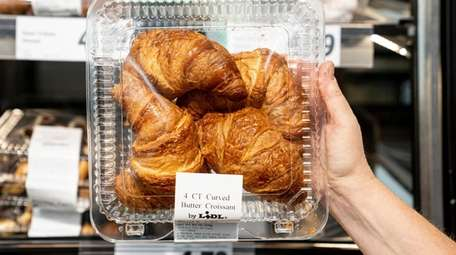 Croissants found in the bakery case at Lidl.
