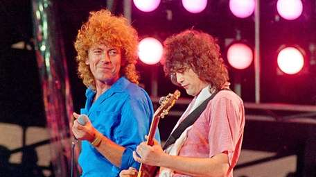 Robert Plant, left, and Jimmy Page of Led