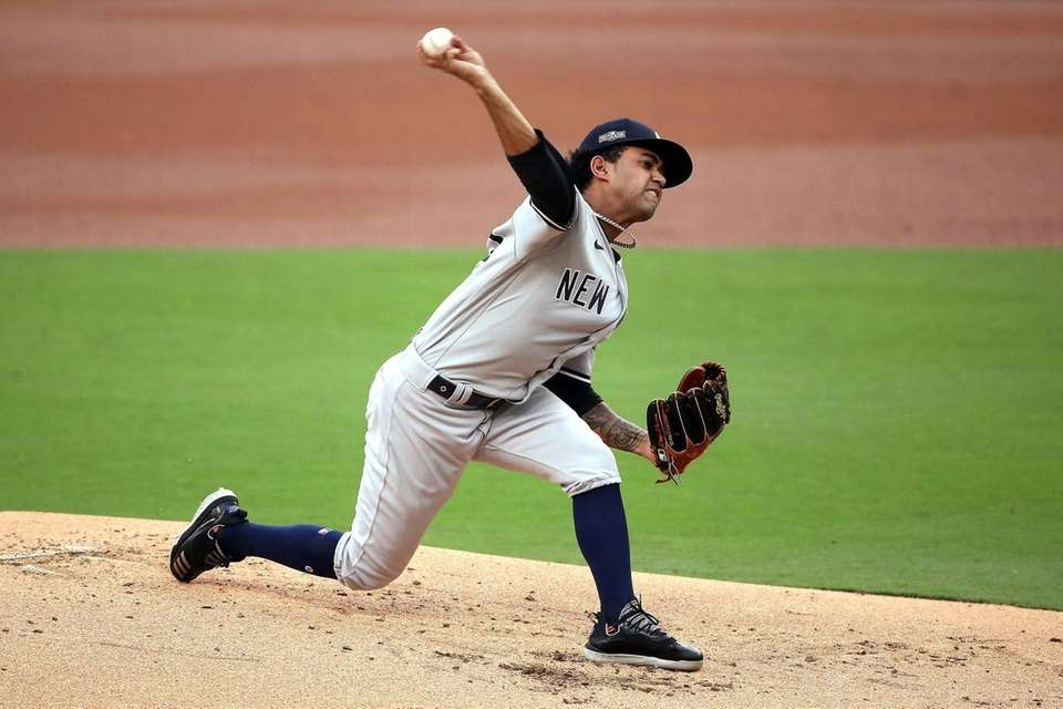 Deivi Garcia #83 of the New York Yankees
