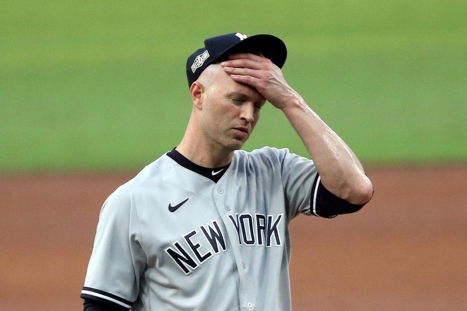 J.A. Happ #33 of the New York Yankees