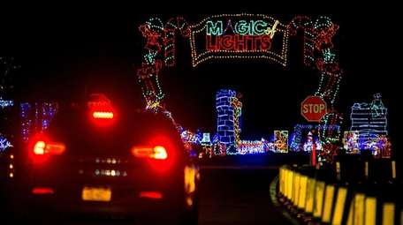 "The ""Magic of Lights"" drive-through show at Jones"