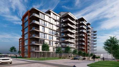 Rendering of apartments proposed for the Superblock property