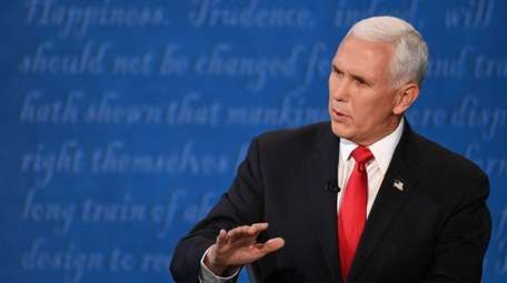US Vice President Mike Pence speaks during the