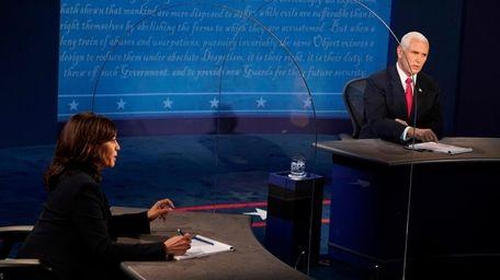 Sen. Kamala Harris and Vice President Mike Pence