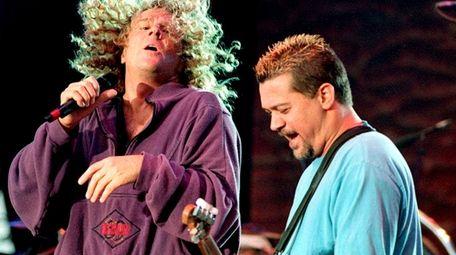 Van Halen singer Sammy Hagar, left, and guitarist