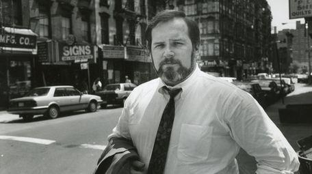 Jim Dwyer on Broome St. in Lower Manhattan