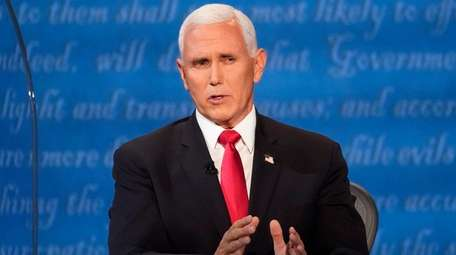 Vice President Mike Pence speaks during the vice