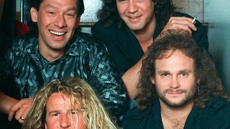 FILE- The rock group Van Halen, clockwise from
