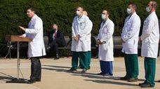 Dr. Sean Conley, the White House physician, talks