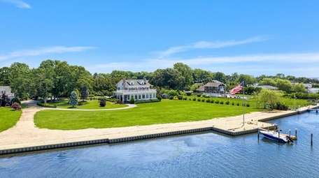 The property is on Senix Creek, off Moriches