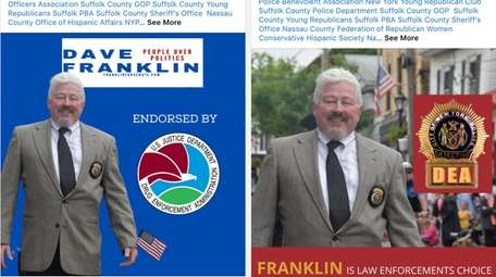 This composite image shows two endorsement postings from
